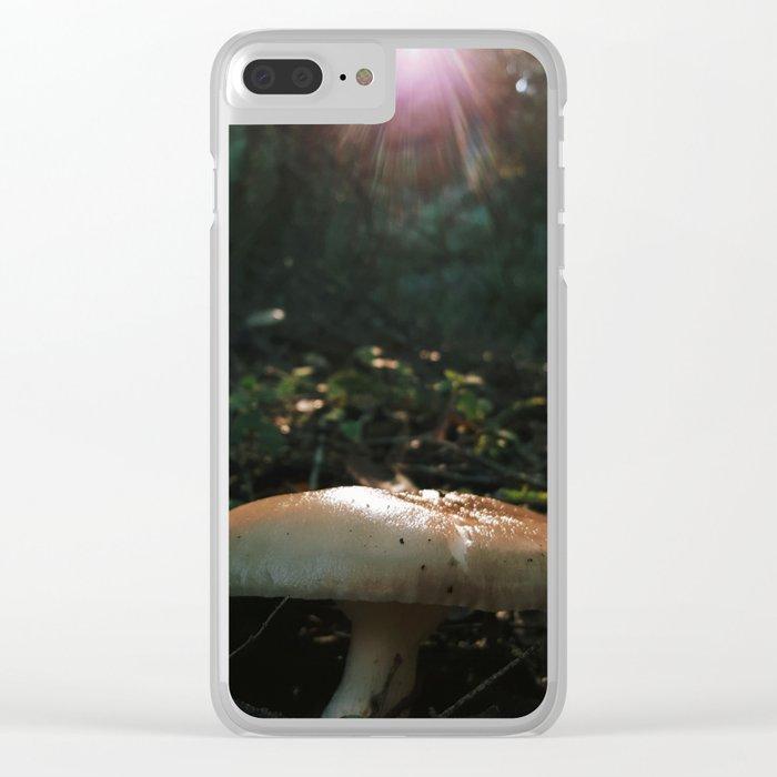 Mushroom God Clear iPhone Case