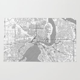 Jacksonville Map Line Rug
