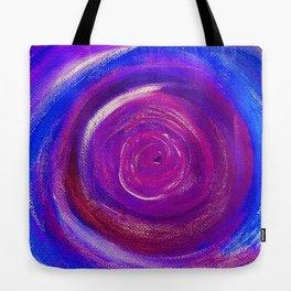 Purple Cyclone Tote Bag