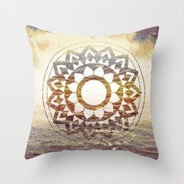 Nature Atmospheric Mandala 02 Throw Pillow