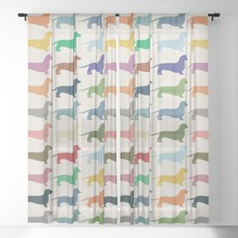 Dachshund Sheer Curtain