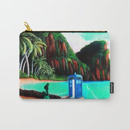 Tardis With Beauty Mermaid Carry-All Pouch