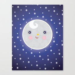 Happy Moon Man Canvas Print
