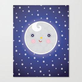 Happy Moon Man Canvas Print