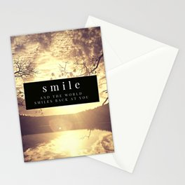 smile and the world smiles back at you Stationery Cards