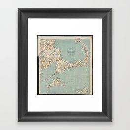 Vintage Map of Cape Cod (1917) Framed Art Print