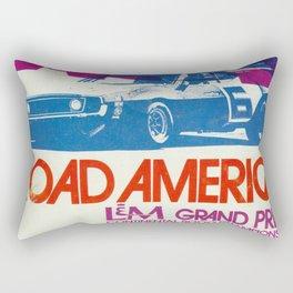 Vintage 1972 Grand Prix Poster Rectangular Pillow