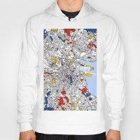 mondrian Hoodies featuring Dublin mondrian by Mondrian Maps