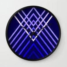 Energy in Blue Wall Clock