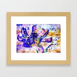 Shattered Blues Framed Art Print