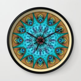 Mandalas from the Heart of Surrender 6 Wall Clock