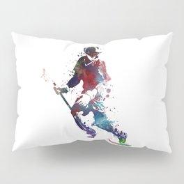 Lacrosse player art 3 Pillow Sham
