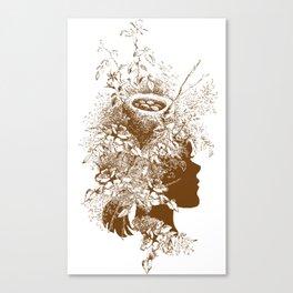 Birds Nest Head Canvas Print