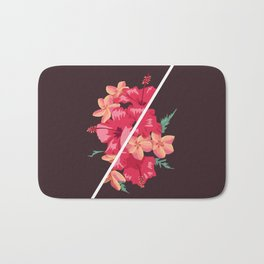 Flowers Out of Sync Bath Mat