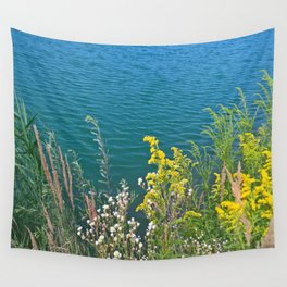 Summer at the lake Wall Tapestry