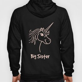 Big Sister Multiple Colors Available Kids Big Sister Unicorn PolyCotton Blended Gift Friendly unicor Hoody