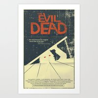 evil dead Art Prints featuring Evil Dead by Mark Welser