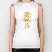 sailor venus Biker Tanks featuring Sailor Venus by Puck