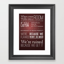Mad Men; Don Framed Art Print