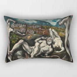 El Greco, Laocoon, 1610 Rectangular Pillow