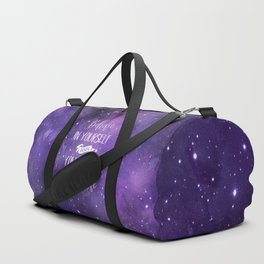 Believe In Yourself Motivational Quote Duffle Bag