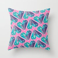 lucy Throw Pillows featuring Lucy by Rittsu