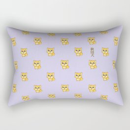 Hachikō, the legendary dog pattern Rectangular Pillow