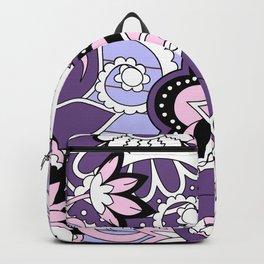 violet zen pattern Backpack