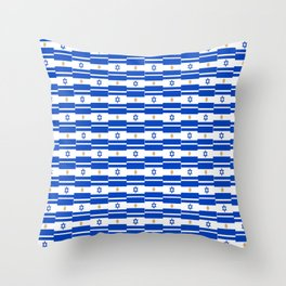 Mix of flag : Israel and Argentina Throw Pillow