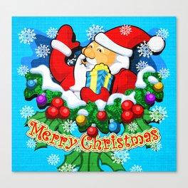 Santa (1 of 7 Characters) Canvas Print