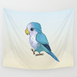 very cute blue quaker parrot Wall Tapestry