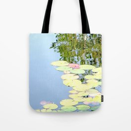Autumn Waterlillies Tote Bag