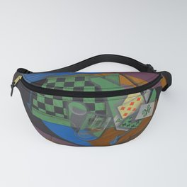 """Juan Gris """"Damier et cartes à jouer (Checkerboard and playing cards)"""" Fanny Pack"""
