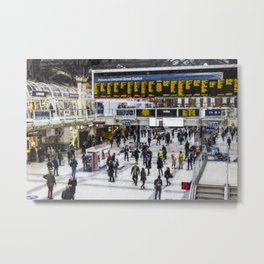 London Train Station Art Metal Print