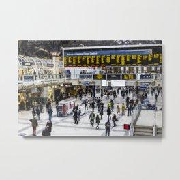 London Train Station Art Metal Print
