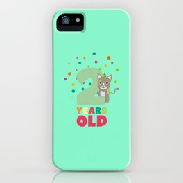 Two Years second Birthday Party Cat T-Shirt D7fw4 iPhone Case