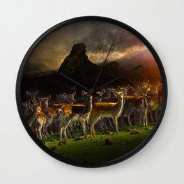 Group of deer Wall Clock