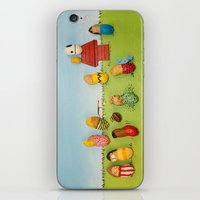 peanuts iPhone & iPod Skins featuring Real Peanuts by Phil Jones