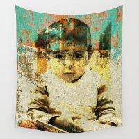 boy Wall Tapestries featuring Boy by Lia Bernini