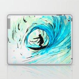 Lone Surfer Tubing the Big Blue Wave Laptop & iPad Skin