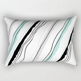 Tricolor line Rectangular Pillow