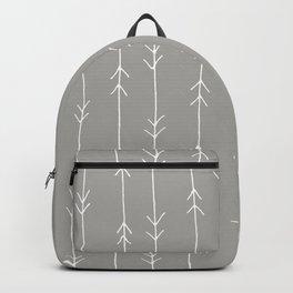 Grey, Fog: Arrows Pattern Backpack