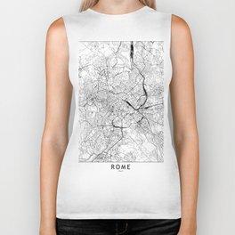 Rome White Map Biker Tank