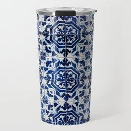 Cobalt Flourish Travel Mug