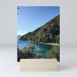 Blue water in Bariloche Mini Art Print