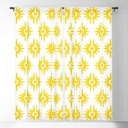Mid Century Modern Bang Pattern 272 Yellow Blackout Curtain