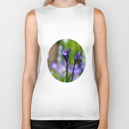 drowning in the bluebell sea Biker Tank