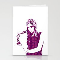 cara delevingne Stationery Cards featuring Cara Delevingne by fashionistheonlycure