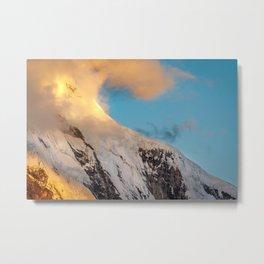 Clouds and Snow Metal Print
