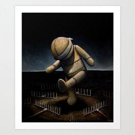 Rake Dancer Art Print